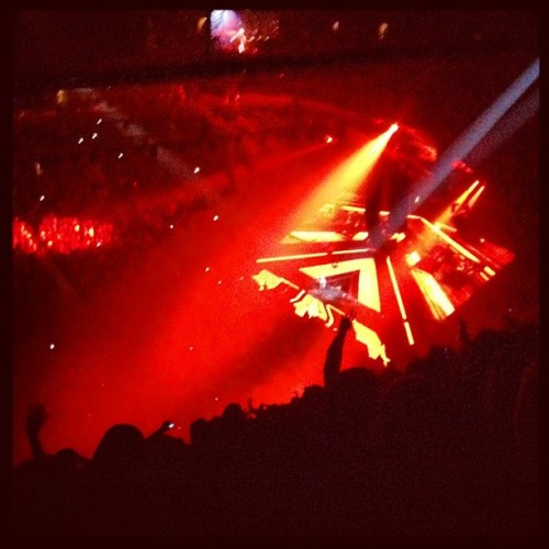 Love the stage projection (Taken with Instagram at Barclays Center)
