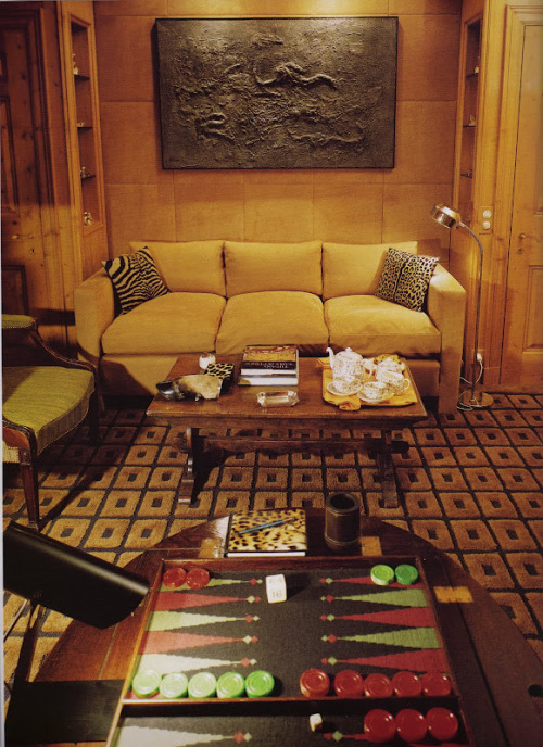 Game room designed by David Nightingale Hicks (1929 – 1998)