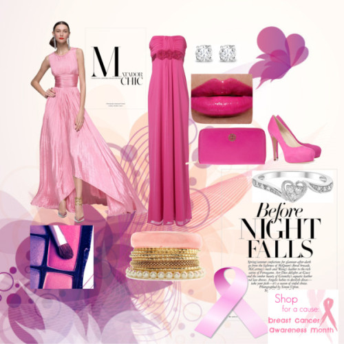 pink by mochawolf featuring a pleated dressOscar de la Renta pleated dress / Jane Norman , $81 / Brian Atwood hot pink heels / Tory Burch  wallet / Asprey stud earrings, $36,455 / Charlotte Russe pearl bangle / Butterfly Fly Away Vector Graphic