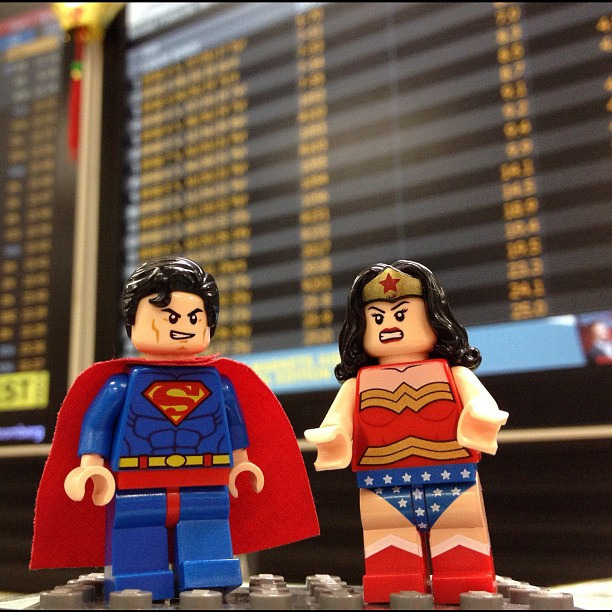 Guess who went to work with me today… #Lego #DC #Superheroes #Superman #Wonderwoman #kidinme #hopemyboydoesntnoticetheyregone #legoheaven #iphoneography #officerandoms From http://www.flickr.com/photos/jennifersingian/7892032898/