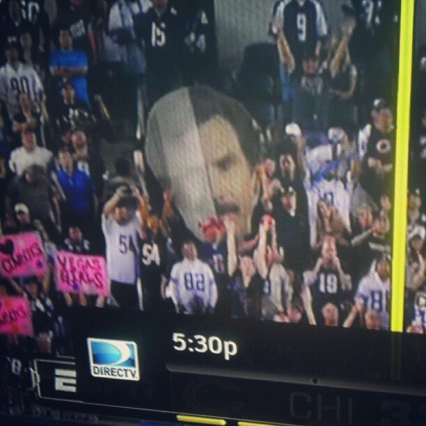 #RonBurgundy at the #chicago #bears #game #lol #monday #night #football (Taken with Instagram)