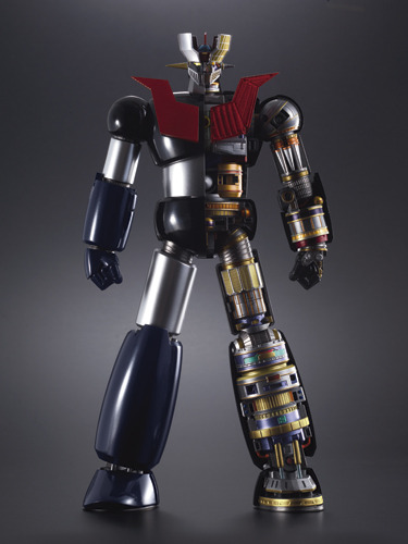 Obscenely Awesome Mazinger Z Chogokin Figure OMFG. Look at this thing. It's like the giant robot equivalent of Kaws' Dissected Companion. The super accurate recreation from the original Mazinger series comes with a bunch of LEDs and full size docking bay. It's almost a foot tall. For the $440 price tag, I was hoping for something more like three feet. It's still awesome and I still want one though. Buy: Mazinger Z DX Soul of Chogokin Action Figure