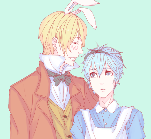 riffrain:  It's welcometowonderland's birthday so I drew this for her. ;~; Go tell her she's great because she is