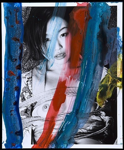 Nobuyoshi Araki, From the Series PaiNting, 2010. Acrylic on B/W photograph, 17 x 14 in.
