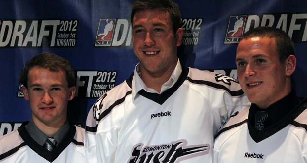 "(via Edmonton Rush News Details) ""With the first overall pick and three picks in the top 15, the Edmonton Rush added a substantial amount of young talent to its roster through the 2012 National Lacrosse League Entry Draft held Monday night in Toronto."""