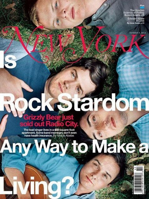 Grizzly Bear on the cover of New York Magazine