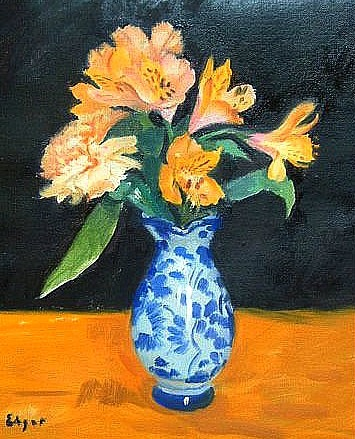 Norman Edgar Still Life in Yellow and Blue 21st century