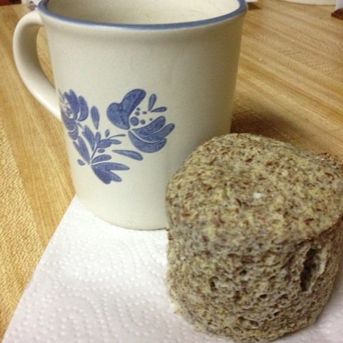 Omg you guys I made this muffin in that mug, using the microwave! #keto #flaxmuffin (Taken with Instagram)