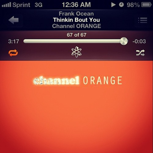 #new #favorite #frankocean #thinkinboutyou #love #beautiful #music 💛💋🎧🎶 (Taken with Instagram)