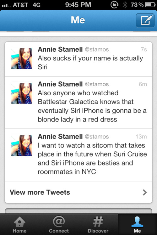 I spend a lot of time thinking things about Siri I guess