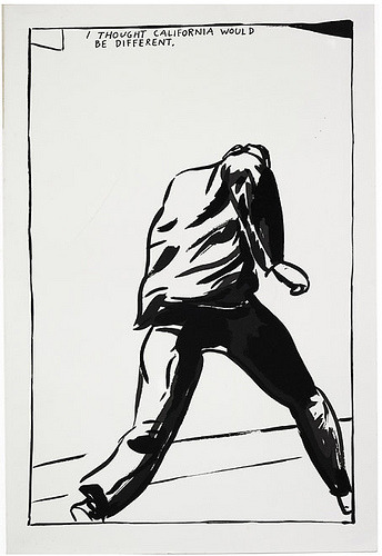 I thought. (Pettibon, back in the day)