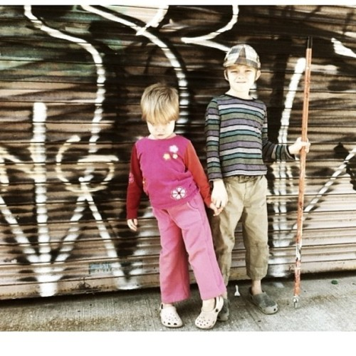 One more #kids in #Williamsburg #Brooklyn with #graffiti shot for y'all