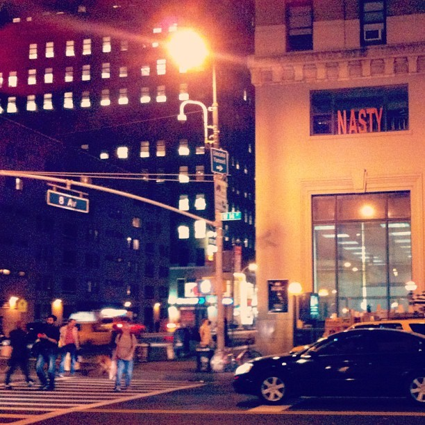 'NASTY' 8th Ave. (Whoever made this sign— let's be friends!) #chelsea #nyc  (Taken with Instagram)