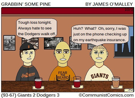grabbinsomepine:   Grabbin' Some Pine - October 1, 2012 - Giants 3 Padres 2.   This is the best Grabbin' Some Pine I've EVER read.