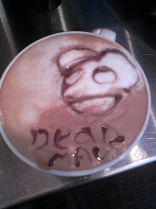 deadmau5:  there might be latte.  Ha ha ha ha!