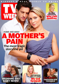MAGAZINE COVER OF THE DAY - 'TV WEEK' (DAN EWING & LISA GORMLEY) Tragedy has hit & is about to take away the Bay's most precious, little bundle of joy… Image Source: TV Week