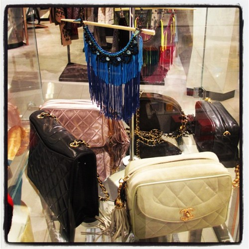 Are those fabulous @CHANEL bags & #JoomiFringe necklace @harveynichols UK? #london #coolshop  (Taken with Instagram)