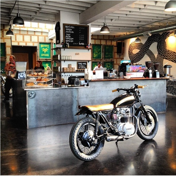 spoony:  The Biker Bar Reimagined, Espresso Included : Remodelista