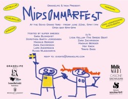 Midsommar fest with Grandlife NYC, Milk Studios, Last Magazine June 24, 2012