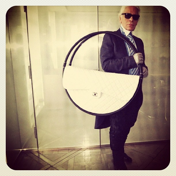 emilyeohara:  #karl #chanel #hullahoop #pfw #amazing (Taken with Instagram)