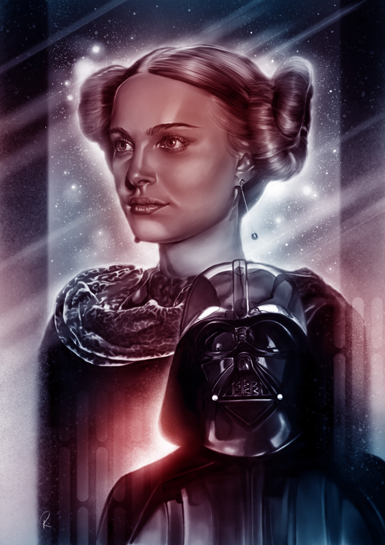 There is good in him, I know there is - Anakin and Padme by Rhys James