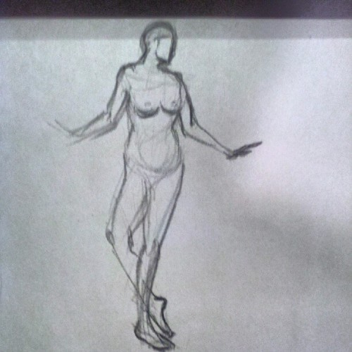 #gesture #figure #drawing 5min (Taken with Instagram)
