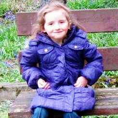 blackbruise:  colfr:  ssaalexblake:   ❤ April Jones, 5, abductedLast seen on the evening of 1st October, on a bicycle near her home in Machynlleth, Wales. She was then seen getting into a grey or light-coloured van. The first photo shows what she was wearing at the time, along with a purple padded coat.» Please reblog so we can get April's picture circulated on Tumblr.» If you have any information, please call the dedicated hotline: 0300 2000 333  They said the van might be a land rover, too.   With abductions it's not unusual to travel over to mainland Europe to escape the police in the UK, so this isn't just for people in Britain.  If you live in France, Germany, Belgium, Spain, The Netherlands or anywhere else in mainland Europe, please keep a look out for this little girl!  i can't even imagine what i'd be like if that happened to my little brother so i hope to god she's found :(