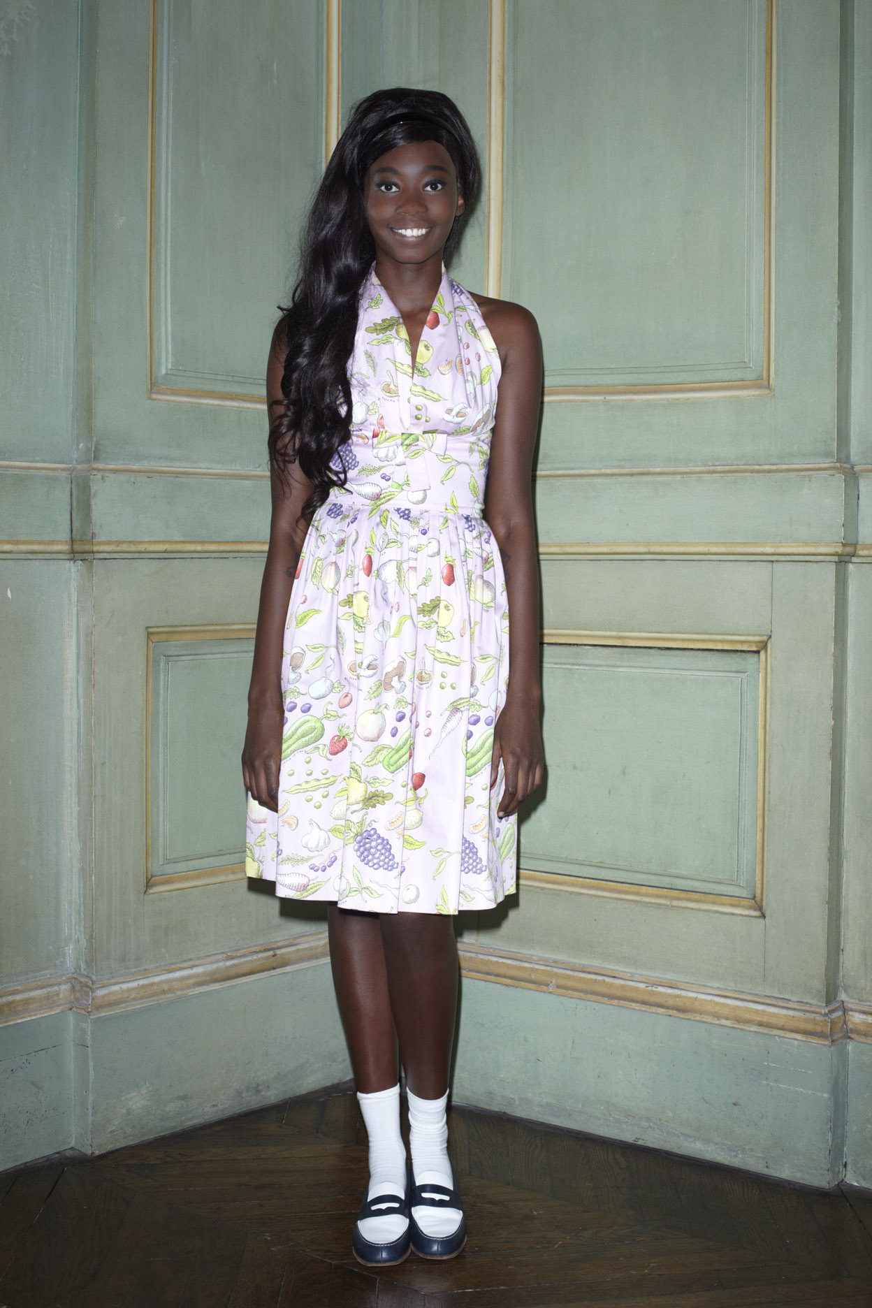 KhadyaK wearing the pink Secret Garden Diana dress.