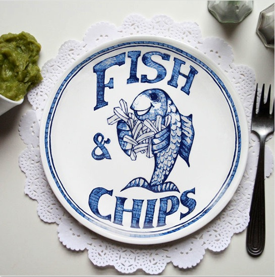 Fish and Chips anyone? So cute from @coadg http://confessionsofadesigngeek.com/2012/10/02/interview-home-slice/