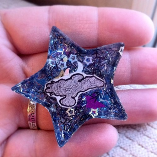 Hoping to get this pendant finished & listed soon! #Browncoats #resin #glitter #handmade #stars #Firefly #Serenity (Taken with Instagram)