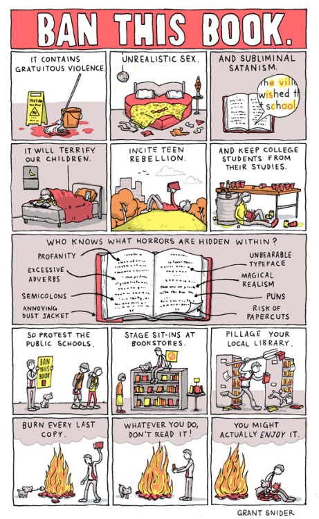 "bookmania:  ""Ban This Book"" by Grant Snider"