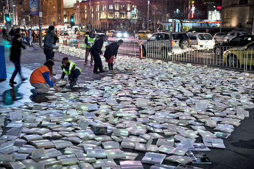 A river of books