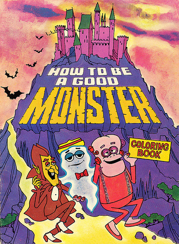 "31 Days of Halloween: Day 2: General Mills How to Be a Good Monster coloring book. It's a little-known fact that manners are very important to Boo Berry, Count Chocula and Franken Berry. Related - Snopes gets to the, um, bottom of the ""Frankenberry stool"" mystery."