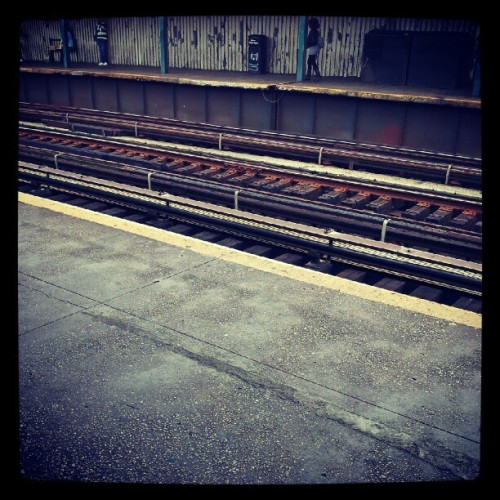 #photoadayoctober #day1 where I stood - just waiting for the train #trainstation #traintracks #rockawayblvdstation (Taken with Instagram at MTA Subway - Rockaway Blvd (A))