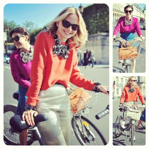 netaporter:  Style, smiles and bicycles. Paris encapsulated.