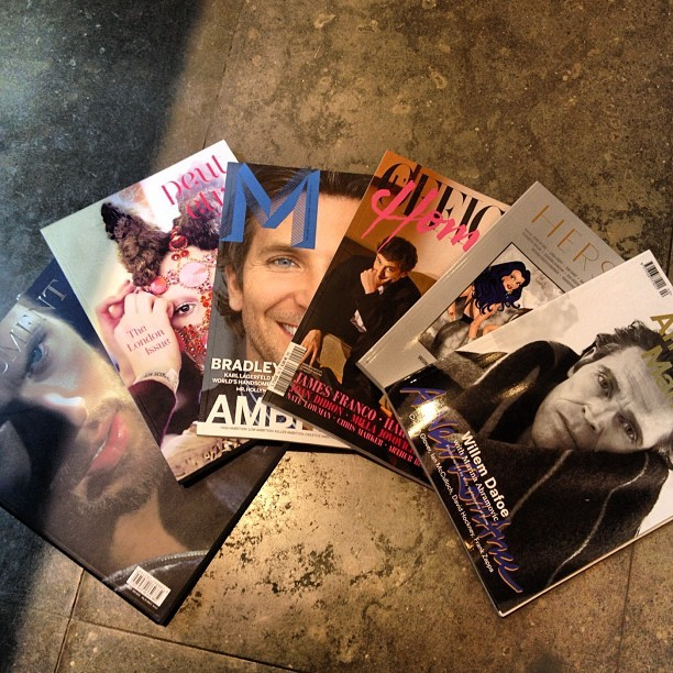 Magazines: Document , Peut-être, M, L'officiel Hommes, Herself & Another Man.  #colette #colettestore #documentmagazine #peutetre #mmagazine #lofficielhommes #herself #anotherman (Pris avec Instagram)