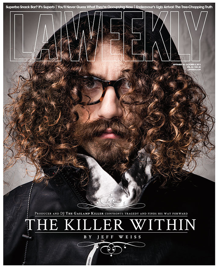 Kevin Scanlon photographs The Gaslamp Killer for LA Weekly.
