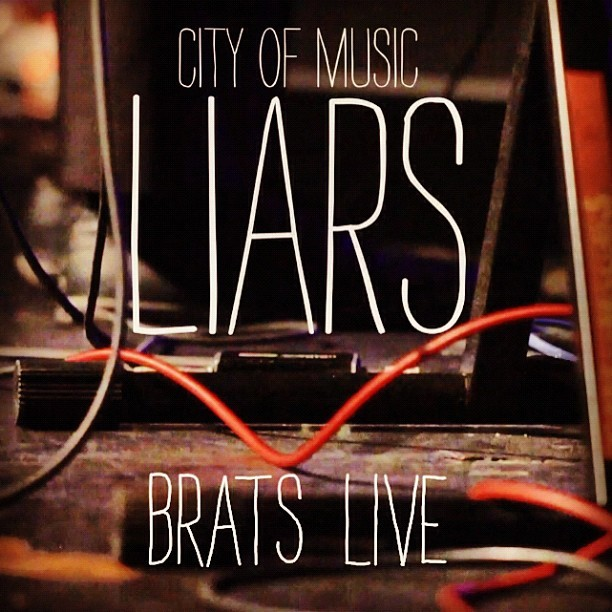 Watch Liars play Brats live: http://pitchfork.com/tv/youtube/18-city-of-music/456-liars-perform-brats/ (Taken with Instagram)