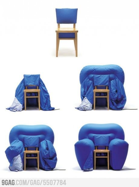 9gag:  Inflatable Chair/Armchair