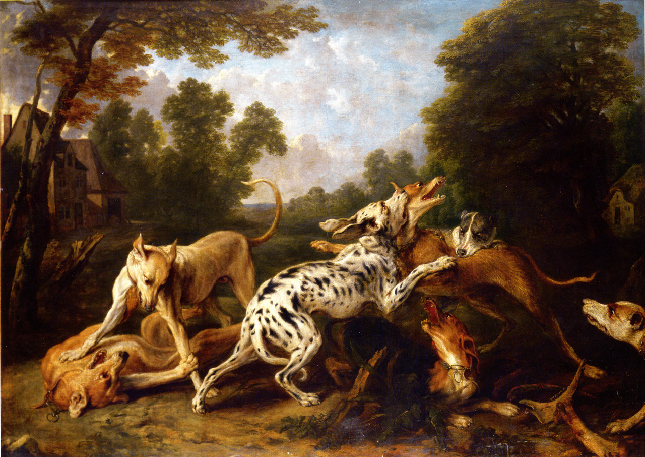 androphilia:  Dogs Fighting In A Wooded Clearing By Frans Snyders, 17th Century