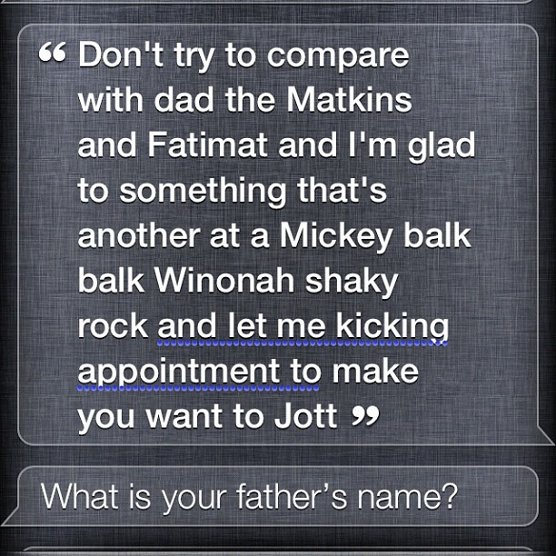 I rapped some Kris Kross to Siri. Enjoy.