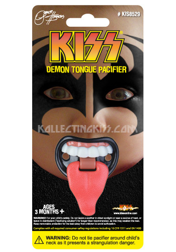 No Joke. KISS Gene Simmons Tongue Pacifier. Coming this fall.