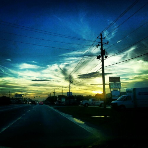 #sunset #blue #yellow #color (Taken with Instagram)