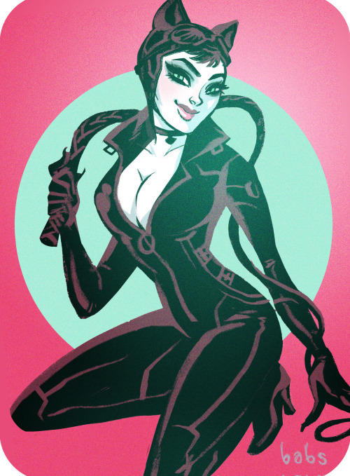 babsdraws:  Bethany Maddock as Catwoman!    Q: What don't I love about this? A: NOTHING