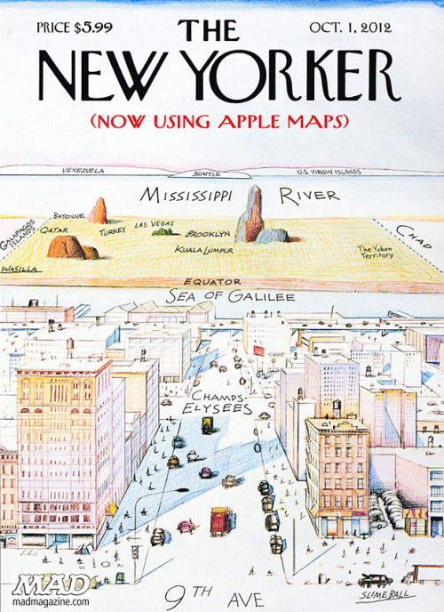 nevver:  The New Yorker (now using Apple maps)