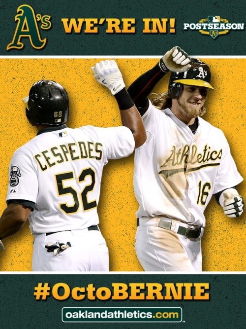 The A's marketing people have way too much fun.