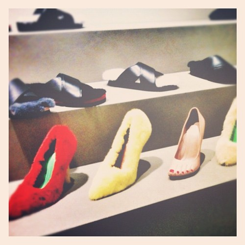 fun shoes #celine (Taken with Instagram at Showroom Celine)