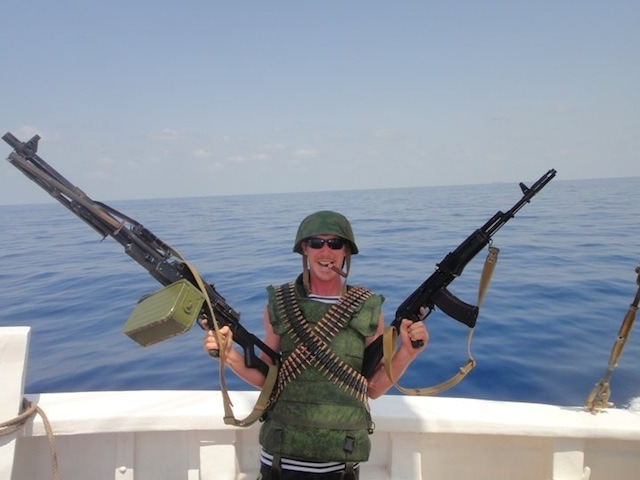 "I Was Attacked by Pirates My friend Stephan is a freelance boat captain and owns his own boat charter business in the Seychelles. It's a pretty amazing gig, all things considered. A couple of years ago, however, Stephan was asked to be Master of the Vessel on a ship sailing from the Seychelles to an island near Somalia. (That title is essentially the same thing as ""Captain,"" by the way, which means he was basically in charge of getting the boat from point A to point B without any hiccups.) The thing about Somalian waters is that they have this irksome little pirate infestation—I'll excuse you if you didn't know already, it's not like it's been in the news much for the past half-decade—which Stephan got to find out about first-hand. I called him up on Skype and got him to tell me about all the fun he's been having with the Somali pirates of the Arabian Sea. Stephan with Fyodor, the preacher sailor. VICE: Hey Stephan. So, tell me how you got yourself into this pirate situation.Stephan: Well, in August of 2010, I was recruited by some Russians to take an old, wooden square rigger—this beautiful old ship built in 1928—from the Seychelles to Socotra, a small island just off the Somali coast. They were really vague about the travel plans, though, and five days into the trip, I was suddenly told, really casually, that, ""Oh, it's actually Montenegro we want to go to now,"" which is a lot further than Socotra.    Who's ""they""?We had a guy named Valim, who was the owner's nephew, Fyodor Konyukhov, this famous Russian sailor who was also a preacher and looked a lot like Jesus, and a Russian diplomat, as well as some of his staff. It was him who pulled the strings to let us bring firearms onboard, actually.  Why did he want to bring firearms with him? Because of the pirate threat?Yeah, purely because he knew we'd be sailing past the Somali coast. We already had three Spetsnaz—Russian special forces—on board as well, and they were all armed to the teeth. Anyway, we eventually reached Socotra and had to make a load of repairs because the engine was a complete mess by that point. Stephan with the three Russian Special Forces guys and a small selection of their arsenal. No trouble up to that point?Nope, not yet. But it was there we met the two boats that were going to be escorting us the rest of the way: Peter the Great, this big, old Russian warship, and SP36, a gigantic towboat. I went to greet the guys from SP36 and was grabbed by two guys in military uniform and dragged on to the boat. I sat there with the captain and discussed, in very broken English, what route we were going to take, how he was going to protect us and what weapons they had, all over a lot of vodka. I mean, an exceptional amount of vodka. That sounds like fun.Yeah, then we exchanged gifts. I gave him a flag from the Seychelles, and I think I wrote something stupid on there, like ""From Seychelles, with love,"" or something, and he gave me a bulletproof vest. Then this huge Russian guy in camo comes in with this fucking massive machine gun—it must have weighed ten kilos. We ended up calling that gun Gail. Cool. It's good to name your weapons.Exactly. So I asked the captain if I was going to be armed, if I should get a pistol or something. He was like, ""Nyet. Nyet pistol,"" and I figured, 'Oh well, you don't ask, you don't get, right?' But then that same huge guy comes back in with an AK-74—not a 47, a 74—and gives that to me as my own personal weapon. What did you call her?I called her Betty. CONTINUE"