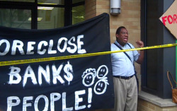 "In response to an Occupy protest [Saturday] at Bank of America's U Street Home Loans office, the Bank of America promised to work with Reverend Vanzant; a DC resident facing imminent eviction from this Fort Totten home. Occupy Our Homes DC has vowed to keep fighting until Rev. Vanzant's home is back in his hands. ""I appreciate that they are now promising to work with me. I will keep fighting until I get my house back.""Rev. Vanzandt said from hospital bed."""