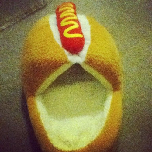 These are real slippers. My birthday also happens to be in two weeks….